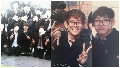 ブイの学生時代の写真